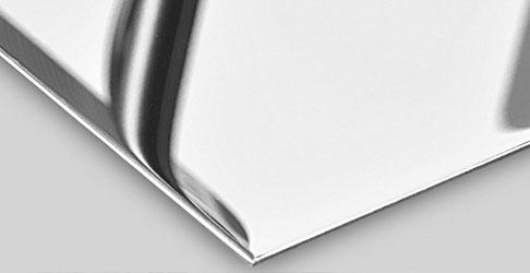 High-gloss polishing of sheets