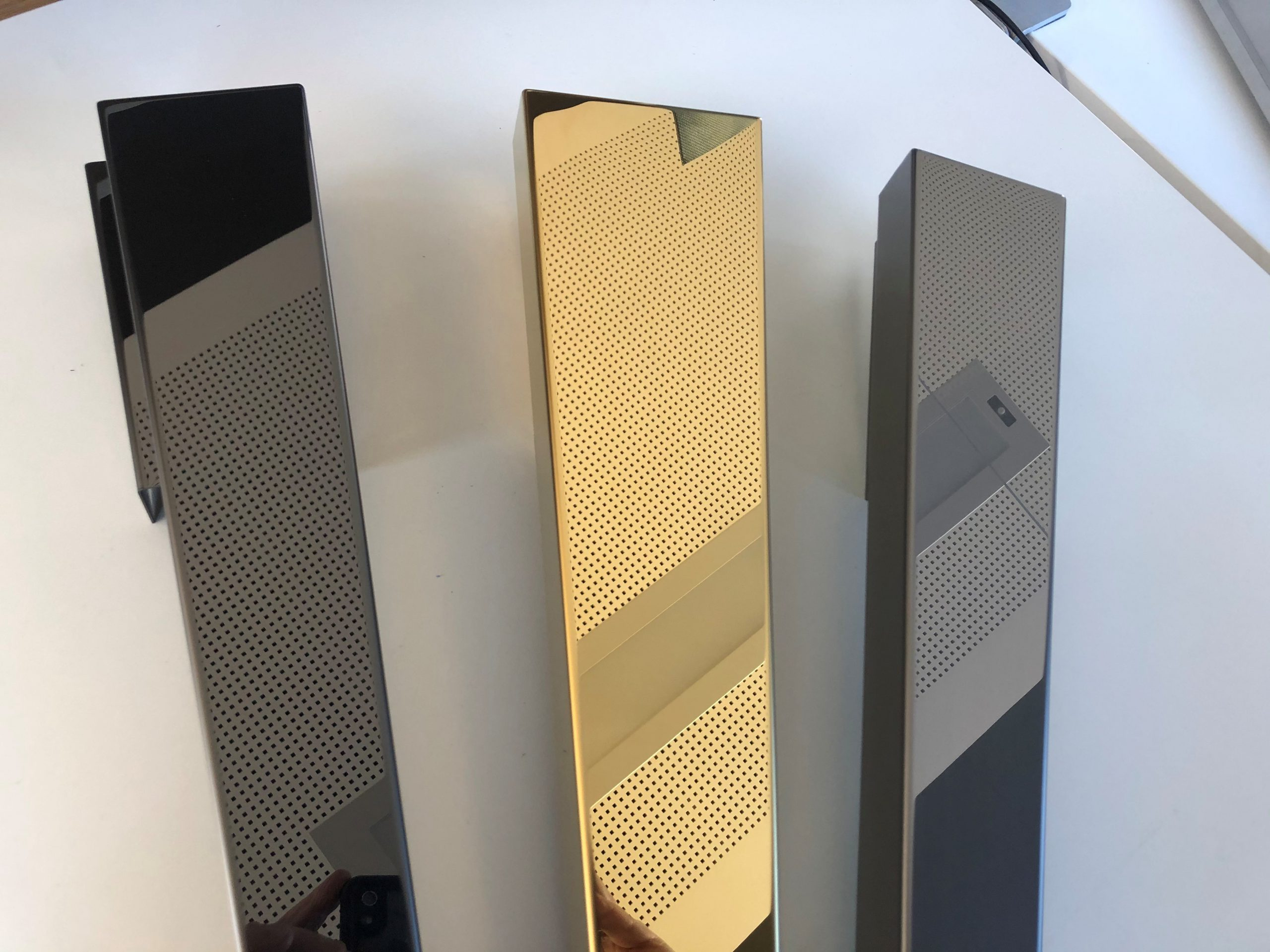 Stainless steel black-gold mirror PVD Tin