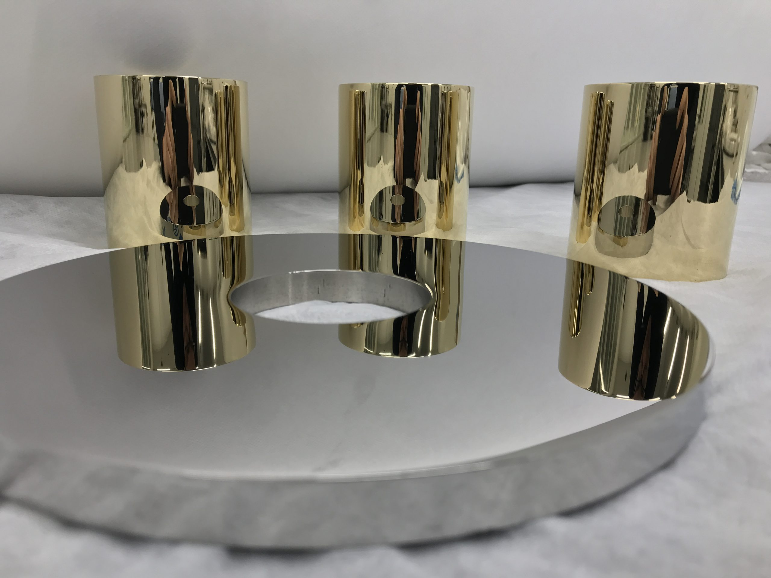 brass and stainless steel high-gloss polished